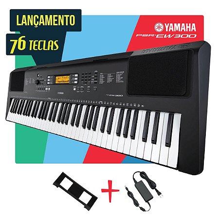 Teclado Yamaha PSR-EW300 Arranjador 6/8 c/ Fonte Inclusa Bivolt