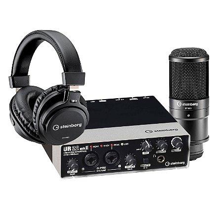 Kit De Gravação Steinberg UR22 MKII / Microfone E Fone