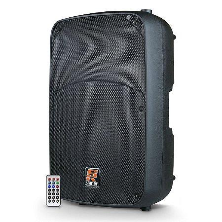 """Caixa Bi-Amplificada Staner SR-315A / 300W / Bluetooth / USB / Bivolt / 15"""""""