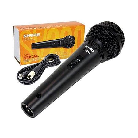 Microfone Shure SV200 / Dinâmico / Cardioide / De mão