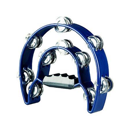 Pandeiro Meia Lua Premium TB-10 Azul