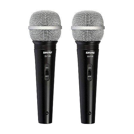 Microfone Shure SV100 Lyric Dinamico - SV 100 (2 unidades)