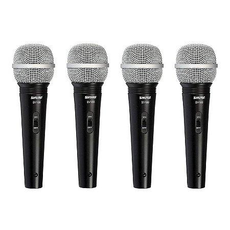 Microfone Shure SV100 Lyric Dinamico - sv 100 (4 unidades)