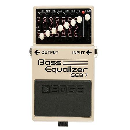 Pedal Boss GEB-7 Bass Equalizer para Contrabaixo
