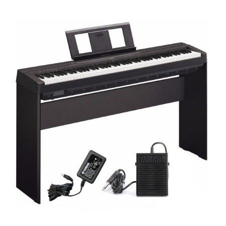 Piano Digital Yamaha Portatil P45 B + estante L85