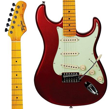 Guitarra Tagima Woodstock TG-530 / Stratocaster/ Vermelho Metálico / 3 Single Coil