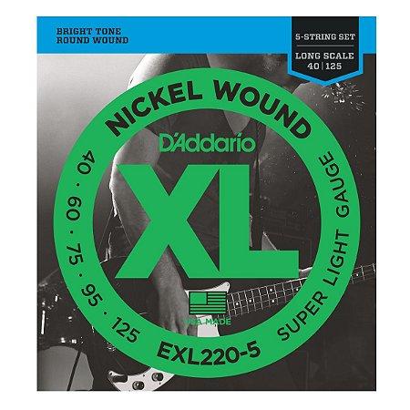 Encordoamento D'Addario EXL 220-5 040 para Contrabaixo 5 cordas
