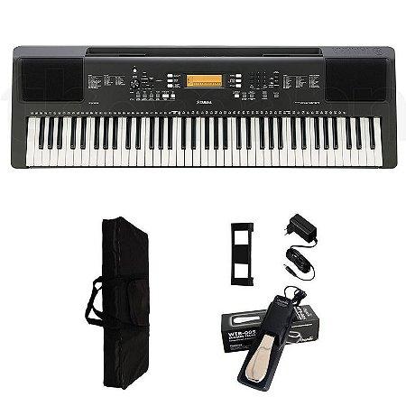 Teclado Yamaha PSR-EW300 6/8 + Fonte + Capa + pedal