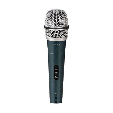 Microfone Vokal MC-20 / Dinâmico / Com Fio