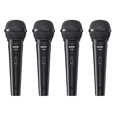 Microfone Shure SV200 - 4 Unidades