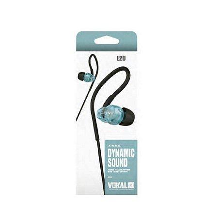 Fone Vokal E20 In Ear Azul Intrauricular