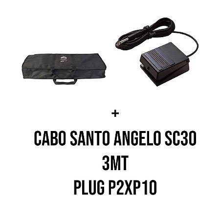 Kit Capa 5/8 + Pedal Roland DP-2 Sustain + Cabo Santo Angelo SC30 com PLug P2xP10