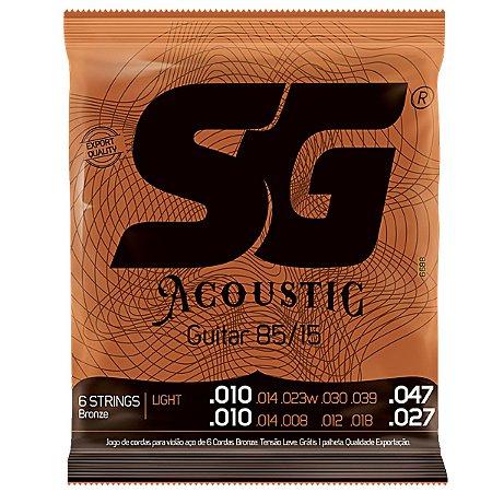 Encordoamento SG Violao Aco 010 SG6688 12 Cordas Bronze 85/15