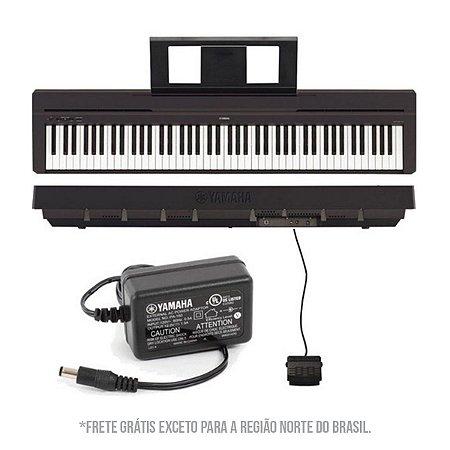 Piano Digital Yamaha P45 + Suporte Stay Piano 1200/01 Aluminio Preto