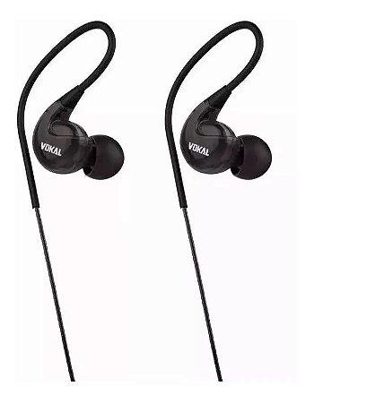Fone Vokal E40 In Ear Preto Intrauricular
