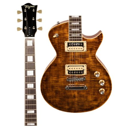Guitarra Tagima Classic Mirach FL TA Les Paul Flamed Maple Transparente Ambar
