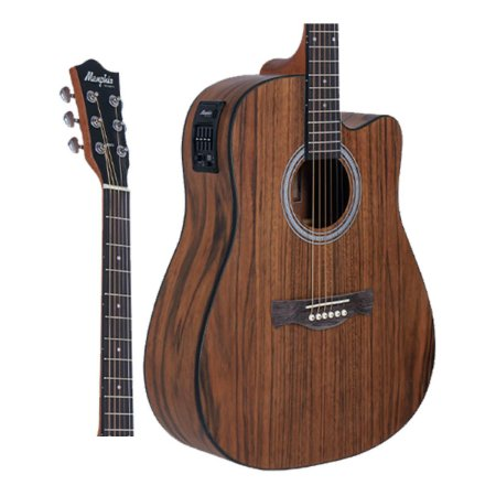 Violao Memphis MD-25 Folk Eletrico Natural Walnut Fosco