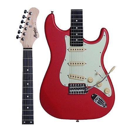 Guitarra Strato Memphis by Tagima MG30 MG-30 Fiesta Red Satin Vermelho