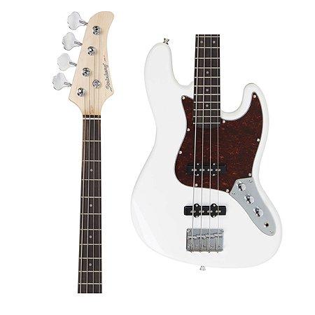 Baixo Strinberg JBS-40 WH Jazz Bass Branco 4 Cordas Passivo