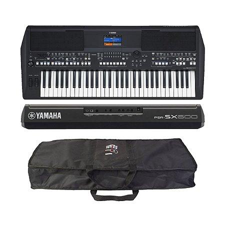 Teclado Arranjador 61 Teclas Yamaha Psr Sx600 + capa