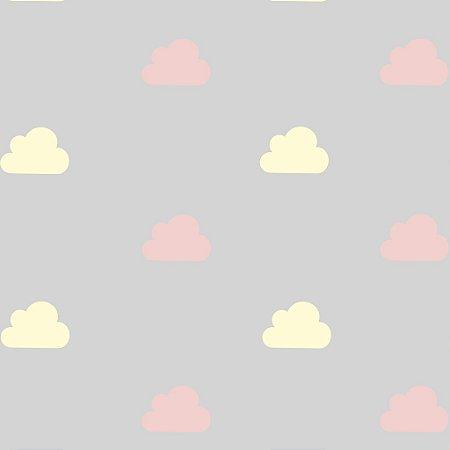 Papel de Parede Adesivo Nuvens Doce