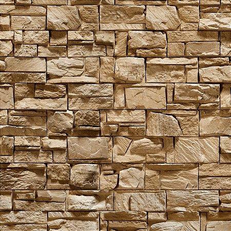 "Papel de Parede Adesivo ""Brown Stone"""