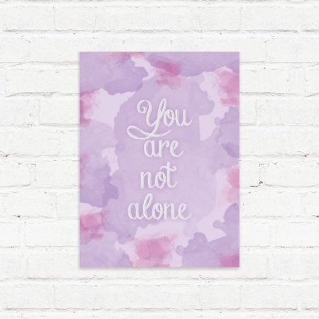 "Placa Decorativa ""Not Alone"""
