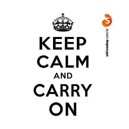 "Adesivo ""Keep Calm and Carry On"""