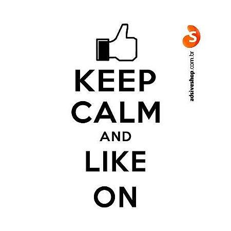 """Adesivo """"Keep Calm and Like On"""""""