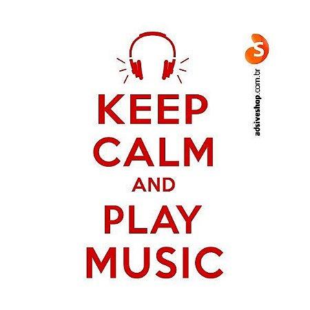 "Adesivo ""Keep Calm and Play Music"""