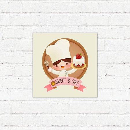 "Placa Decorativa ""Sweet & Cake"""