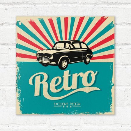 Placa Decorativa Retro Auto