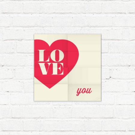 "Placa Decorativa ""Love You"""