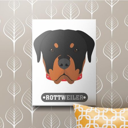 Placa Decorativa Rottweiler