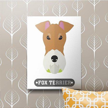 Placa Decorativa Fox Terrier
