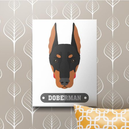 Placa Decorativa Doberman