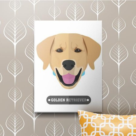Placa Decorativa Golden Retriever