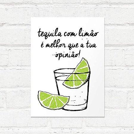 Placa Decorativa Tequila com Limão