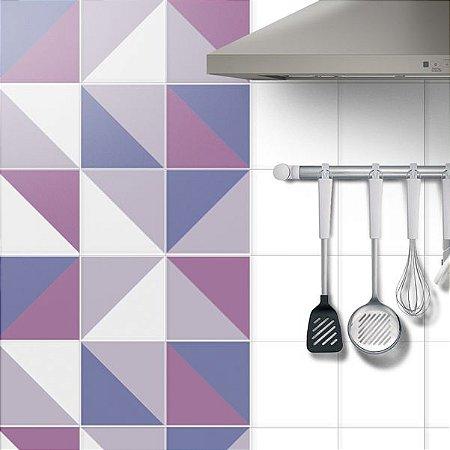 Adesivo Azulejo Violet- kit 18pçs