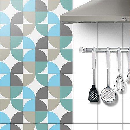 Adesivo Azulejo Geometric World - kit 18pçs