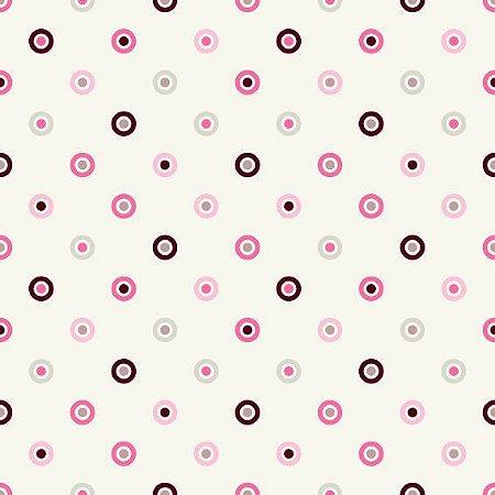 Papel de Parede Adesivo Colorful Circles