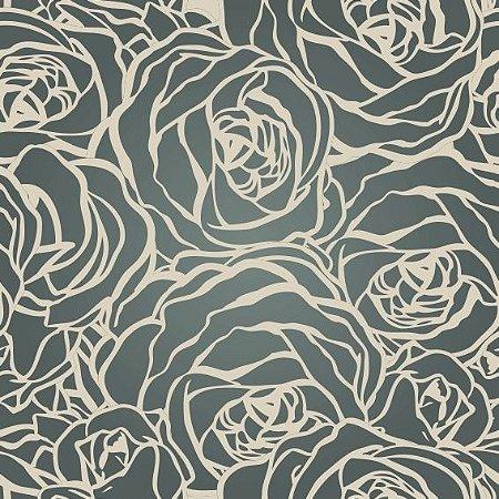 "Papel de Parede Adesivo ""Black Roses"""