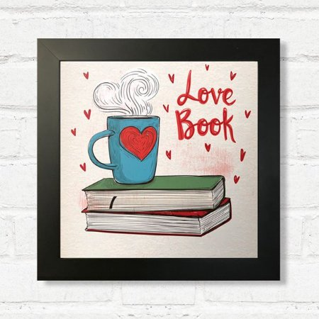 Quadro Love Book com Moldura Preta