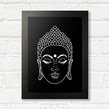 Quadro Buda com Moldura Preta