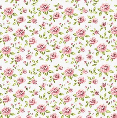 """Papel de Parede Adesivo """"Rosas"""""""