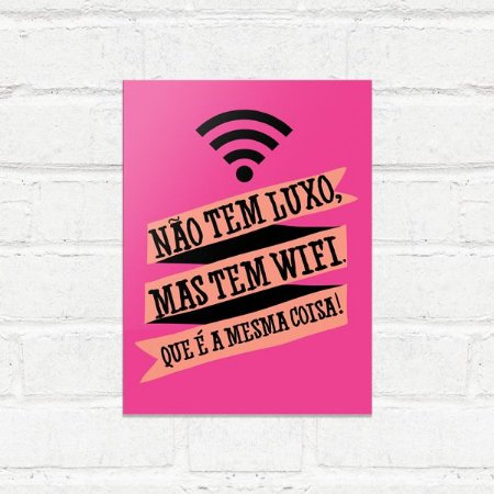 Placa Decorativa Wifi Luxo