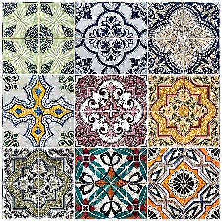 Adesivo azulejo ceramic portugal papel de parede e adesivos decorativos adsiveshop - Azulejos portugueses comprar ...