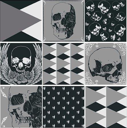 "Adesivo Azulejo ""Skull"""