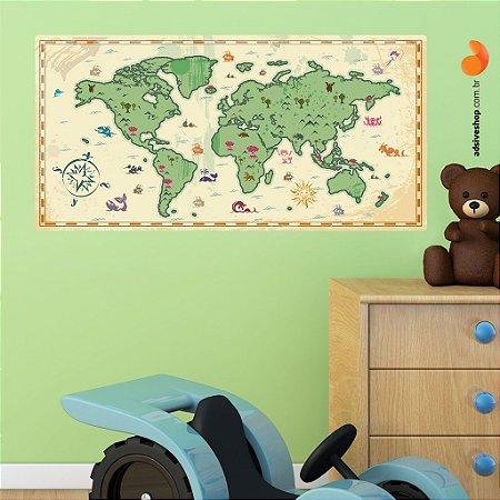 "Adesivo Decorativo ""Mapa Mundi"""