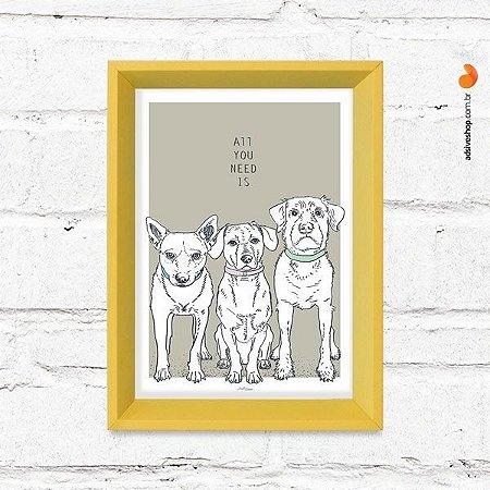 """Quadro Decorativo """"Dogs"""""""